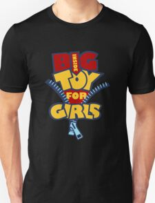 Big Toy for Girls inside T-Shirt