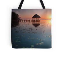 Laguna Bacalar, Mexico, Sunrise Tote Bag