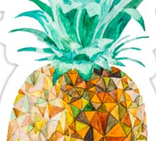 Low Poly Watercolor Pineapple Sticker