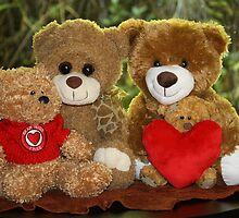 The Teddy Bear Family Portrait by aussiebushstick