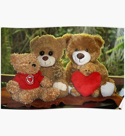 The Teddy Bear Family Portrait Poster