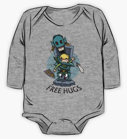 Zelda Wind Waker FREE HUGS  One Piece - Long Sleeve