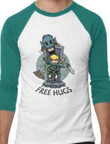 Zelda Wind Waker FREE HUGS  Men's Baseball ¾ T-Shirt
