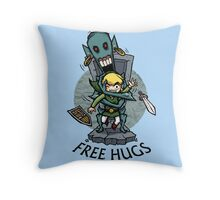 Zelda Wind Waker FREE HUGS  Throw Pillow