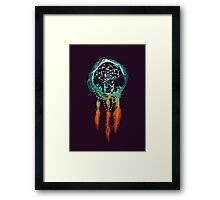 The Dream catcher (rustic magic) Framed Print