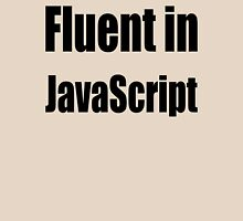 Fluent in JavaScript - Black on Yellow/Creme for Web Developers T-Shirt