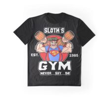 Funny Gym Sloth The Goonies Fitness Graphic T-Shirt