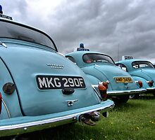 4 Morris Minor police cars by LooseImages