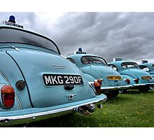 4 Morris Minor police cars Photographic Print