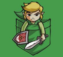 Pocket Link Legend of Zelda T-shirt by Purrdemonium