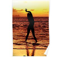 Sunset Yoga III Poster