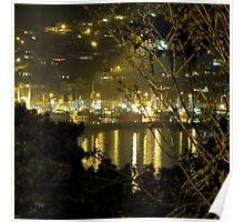Newport, Oregon Bay At Night Poster