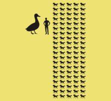 Horse-Sized Duck vs. 100 Duck-Sized Horses Kids Tee