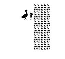 Horse-Sized Duck vs. 100 Duck-Sized Horses Photographic Print