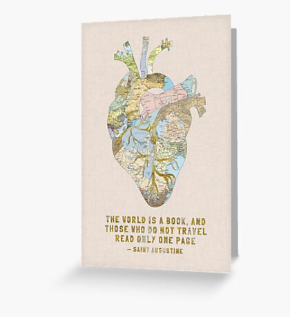 A Traveler's Heart + Quote Greeting Card