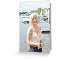 Blond and boats Greeting Card