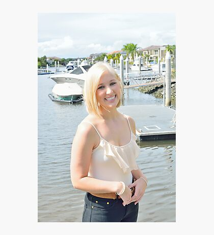 Blond and boats Photographic Print