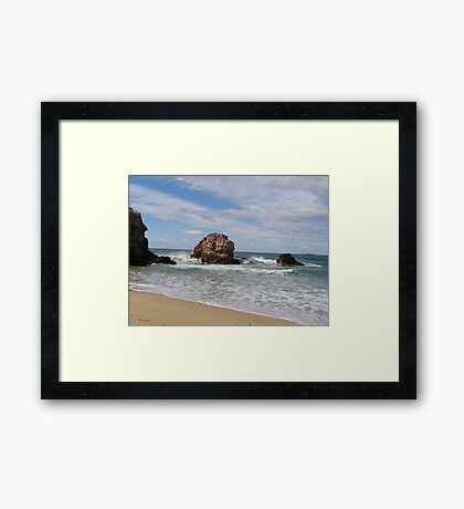 'Red Rock' North/East coast, New South Wales. Australia Framed Print