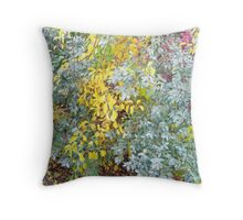 Autumn Foliage Cascade Throw Pillow