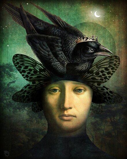 Der Rabenkönig (the raven king) by ChristianSchloe