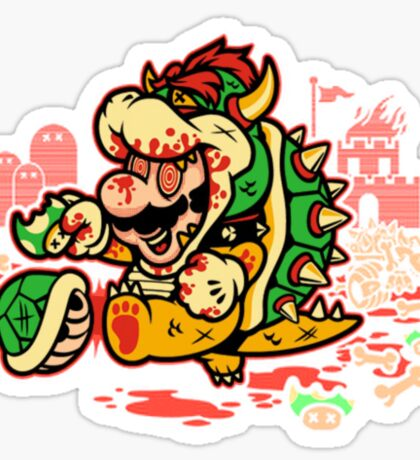 MARIO MADNESS BOWSER Sticker