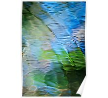 Coastline Mosaic Nature Abstract Poster