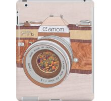 Wood Canon iPad Case/Skin