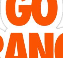 GO ORANGE. Sticker