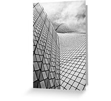Sydney Opera House Close up Black and White Greeting Card