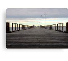 Along the pier Canvas Print
