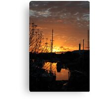 Sunrise on Townsville Boat Harbour Canvas Print
