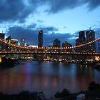 Story Bridge at night by William Goschnick