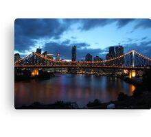 Story Bridge at night Canvas Print