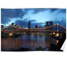 Story Bridge at night Poster