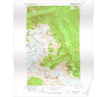 USGS Topo Map Washington State WA Forbidden Peak 241151 1963 24000 Poster