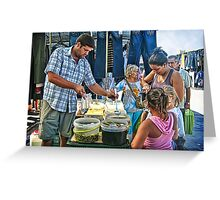 Buying Pickles Greeting Card