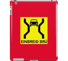 Single-Width Bridge, Traffic Sign, Iceland iPad Case/Skin