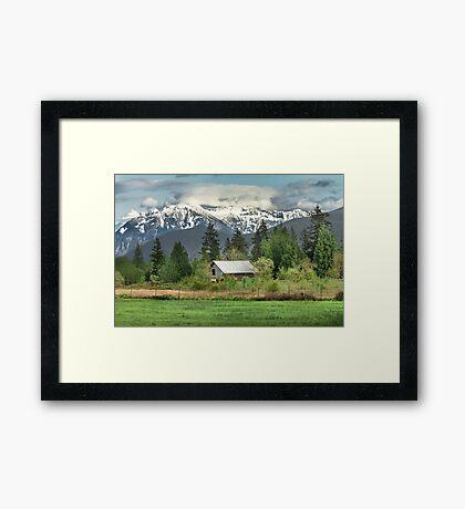 Cascade Mountains Framed Print