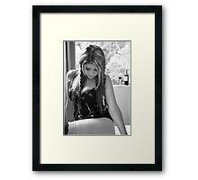 Melancholy Minx Framed Print
