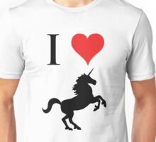 I Love Unicorns (black design) Unisex T-Shirt