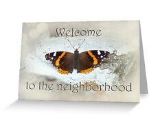 Welcome to the Neighborhood - Red Admiral Butterfly Greeting Card