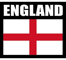 England, English Flag, Flag of St George, English, Englander, Patriot, Pure & simple, on Black Photographic Print