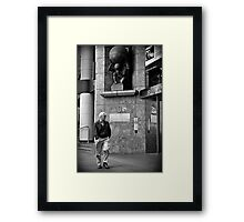 Man's World Framed Print