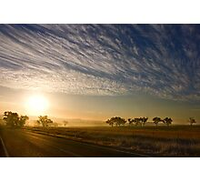 Smokey Sunset ~ Cootamundra (NSW) Photographic Print
