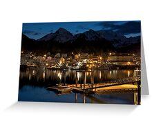 Sitka, Alaska - Early morning light Greeting Card