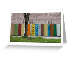 Doors with a message... Greeting Card