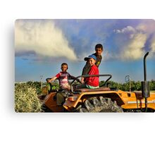 Young Farmers Canvas Print