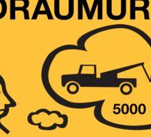 Parking 10 Min Maximum, Traffic Sign, Iceland Sticker