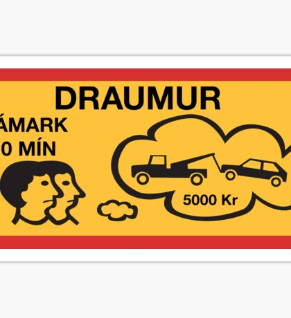 Parking 10 Min Maximum, Traffic Sign, Iceland Sticker