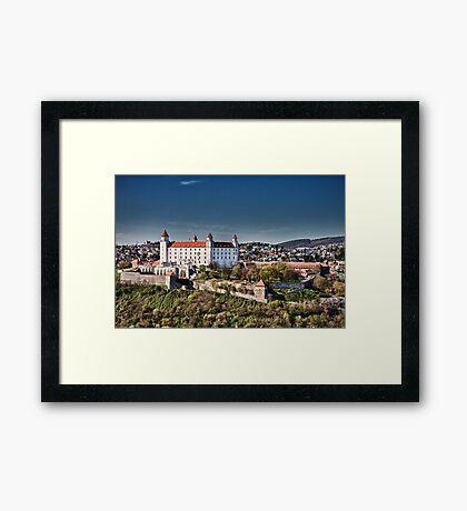 The beautiful Bratislava Castle. Framed Print